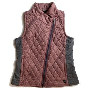 Noble Outfitters quilted puffer warmup vest rose